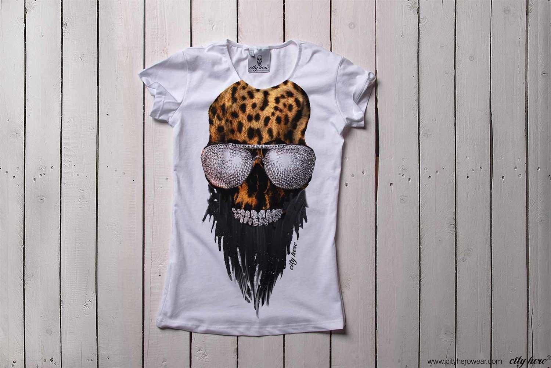 City Hero leo skull [ФУТБОЛКА ЖЕНСКАЯ]