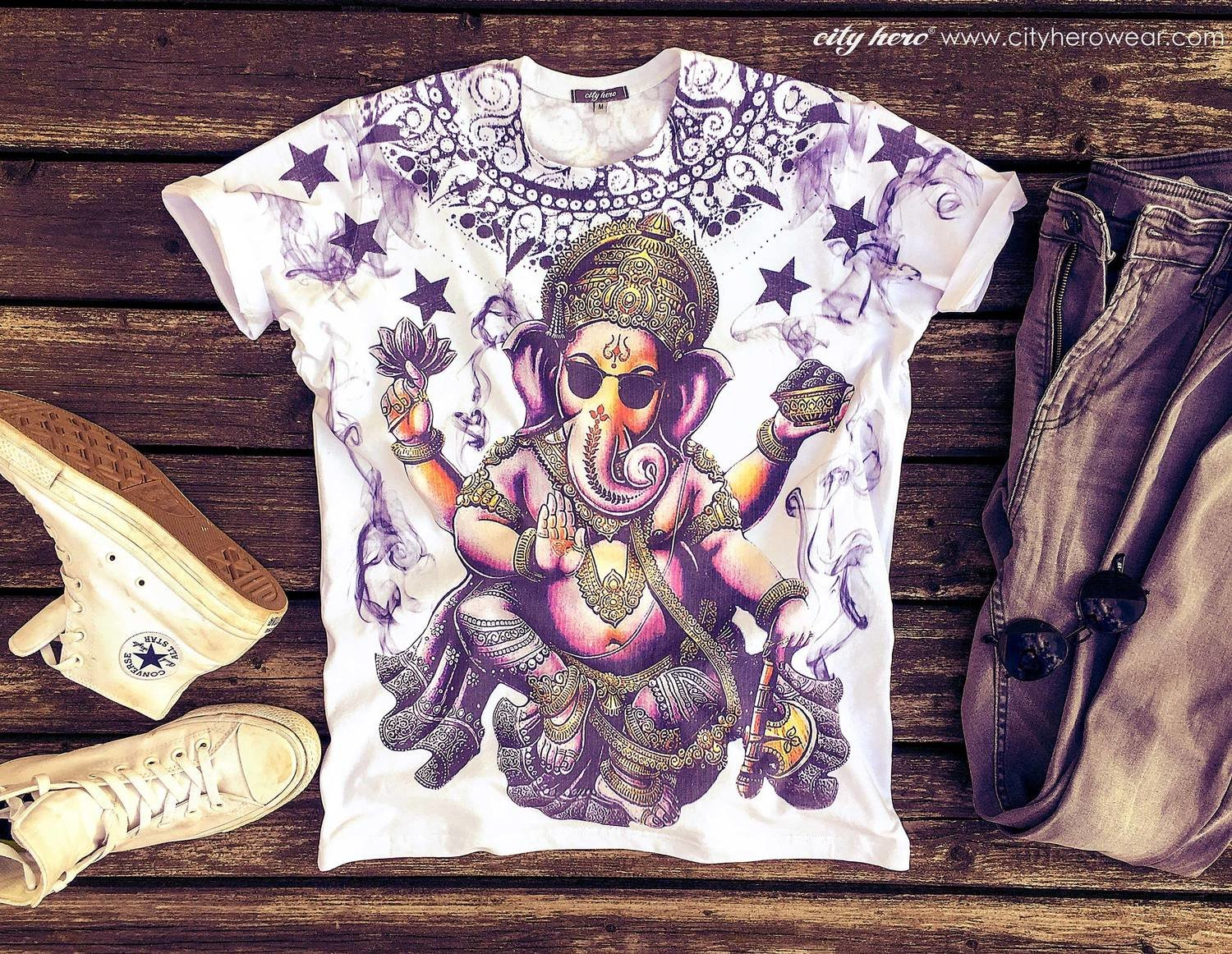 Smoky Ganesha [T-SHIRT MEN]