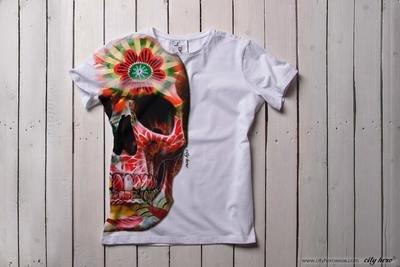 Half florish skull [ФУТБОЛКА МУЖСКАЯ]