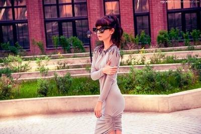 City dress SKY CEMENT [ПЛАТЬЕ]