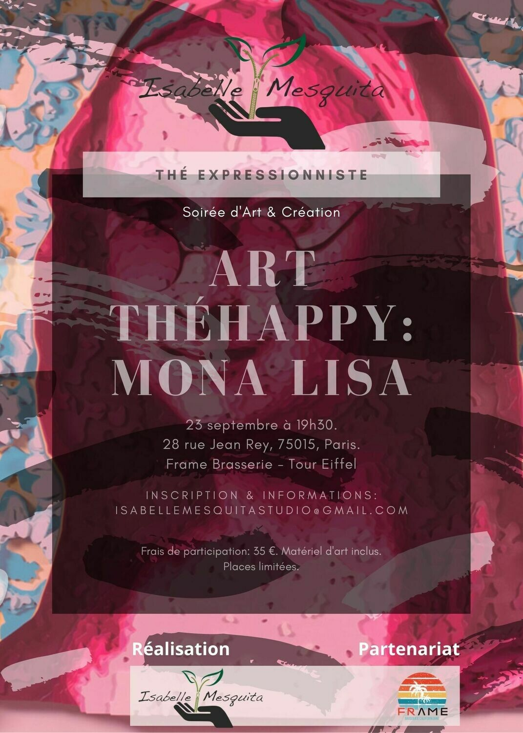 Thé Expressionniste: Art Théhappy Mona Lisa