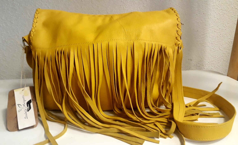 Yellow Fringe Handbag