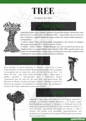 TREE: la reine des bois. GREENPEACE BRASIL + ISABELLE MESQUITA - Let's save the Amazon Rainforest & Pantanal with art