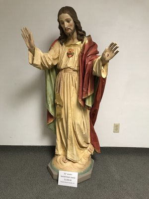 "61"" Sacred Heart Statue"