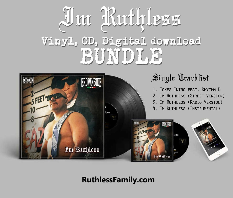 """Brownside: Im Ruthless (12"""" Vinyl) Bundle #tokerforever"""