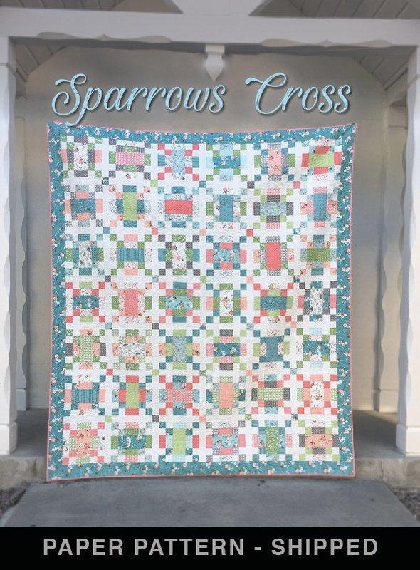 Sparrows Cross - Quilt Pattern - Paper Pattern