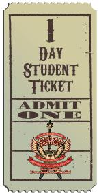 1 Day Student Ticket