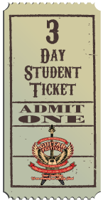 3 Day Student Ticket