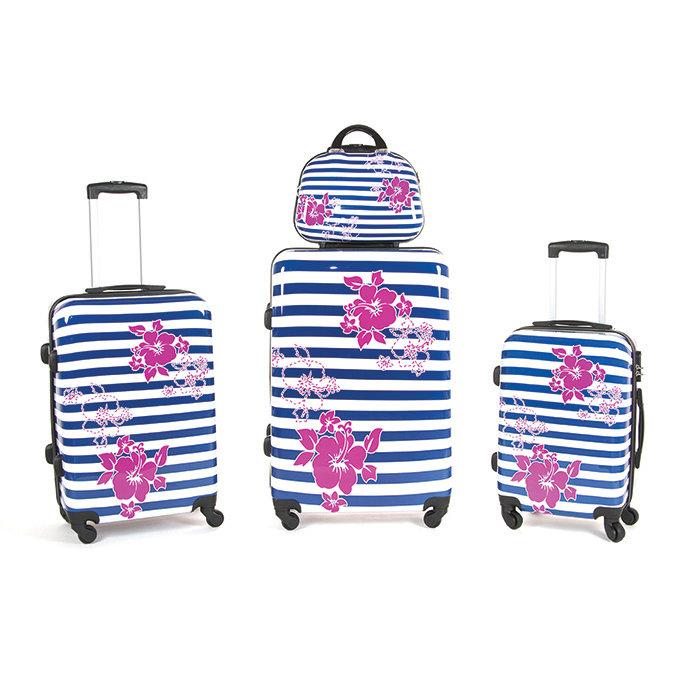 Set 3 valigie + beauty in abs leggero c/4 ruote