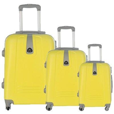 Set 3 valigie in abs leggero c/4 ruote giallo