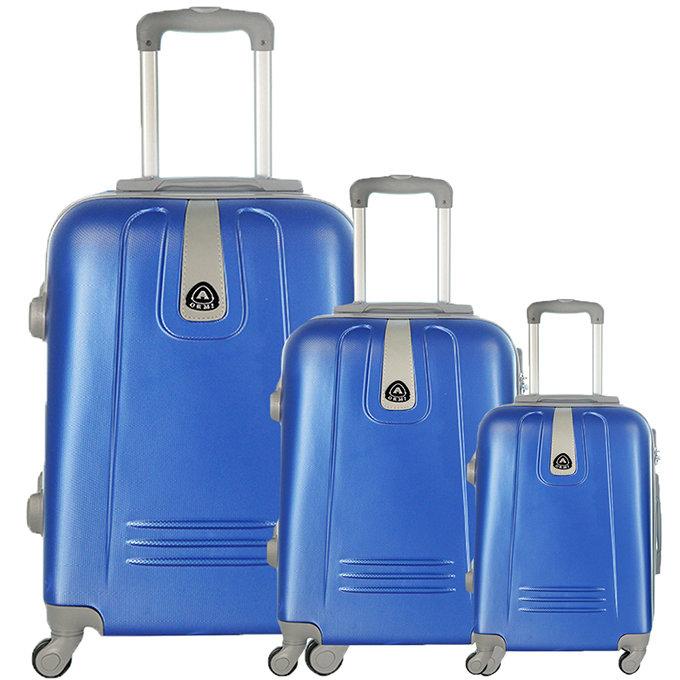 Set 3 valigie in abs leggero c/4 ruote royal