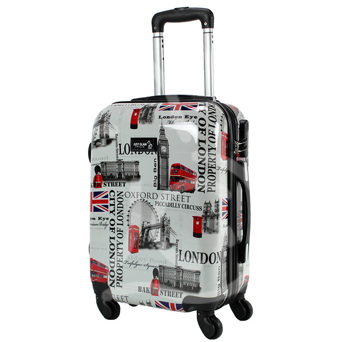 Trolley da cabina  justglam  ultraleggero  50cm fantasia london