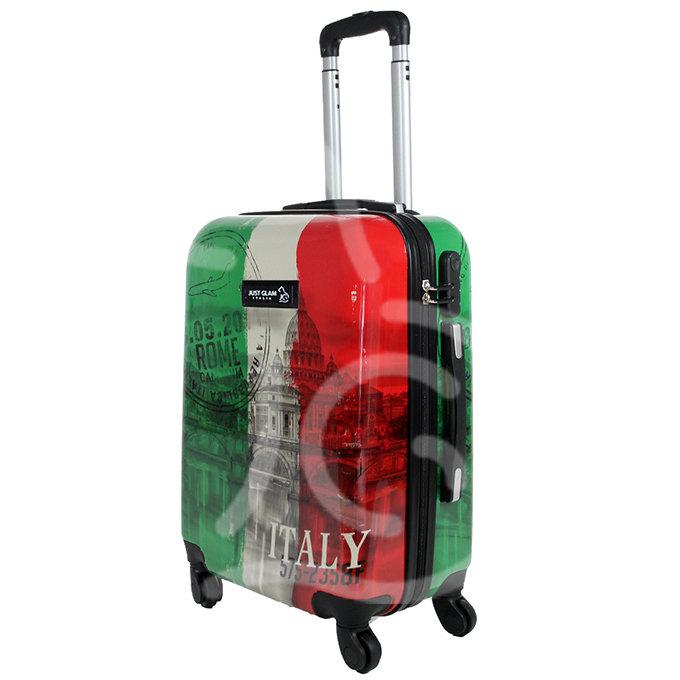 Trolley da cabina  justglam  ultraleggero  55cm fantasia tricolore