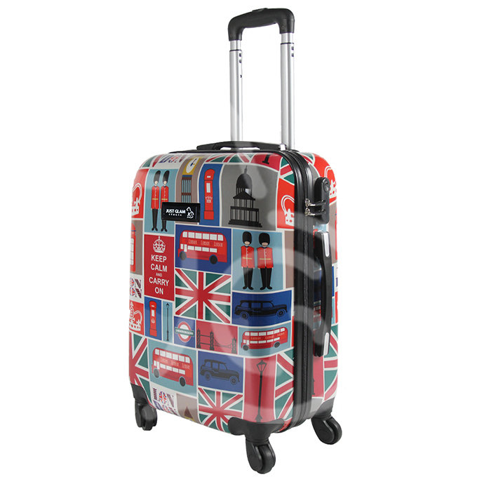 Trolley da cabina  justglam  ultraleggero  50cm fantasia british general