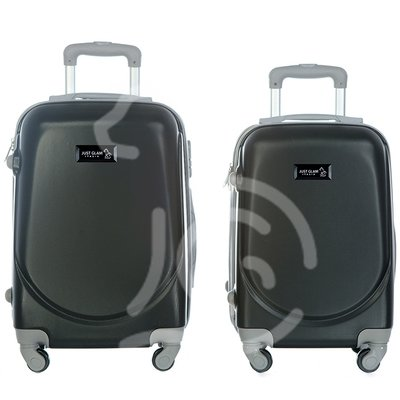 Coppia di 2 trolley da cabina mis.50 e 55 cm nero