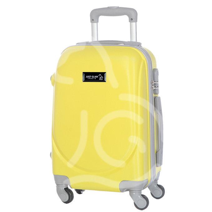 Trolley da cabina  justglam  ultraleggero  55cm giallo