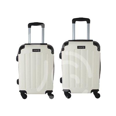 Coppia di 2 trolley da cabina mis.50 e 55 cm panna