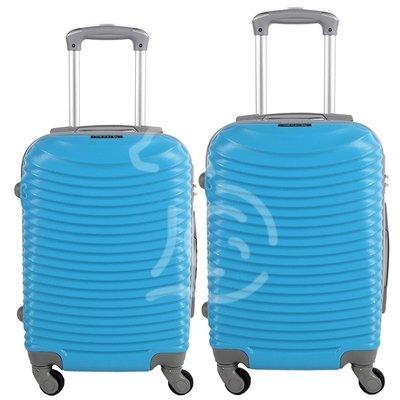Coppia di 2 trolley da cabina mis.50 e 55 cm celeste