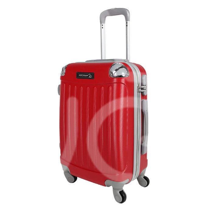 Trolley da cabina  justglam  ultraleggero  50cm rosso