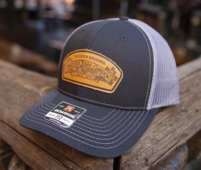 Trucker Snapback Hat Black On Charcoal