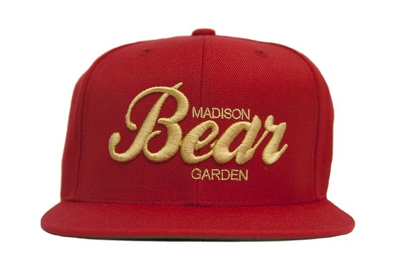 Red & Tan Embroidered Snapback Hat