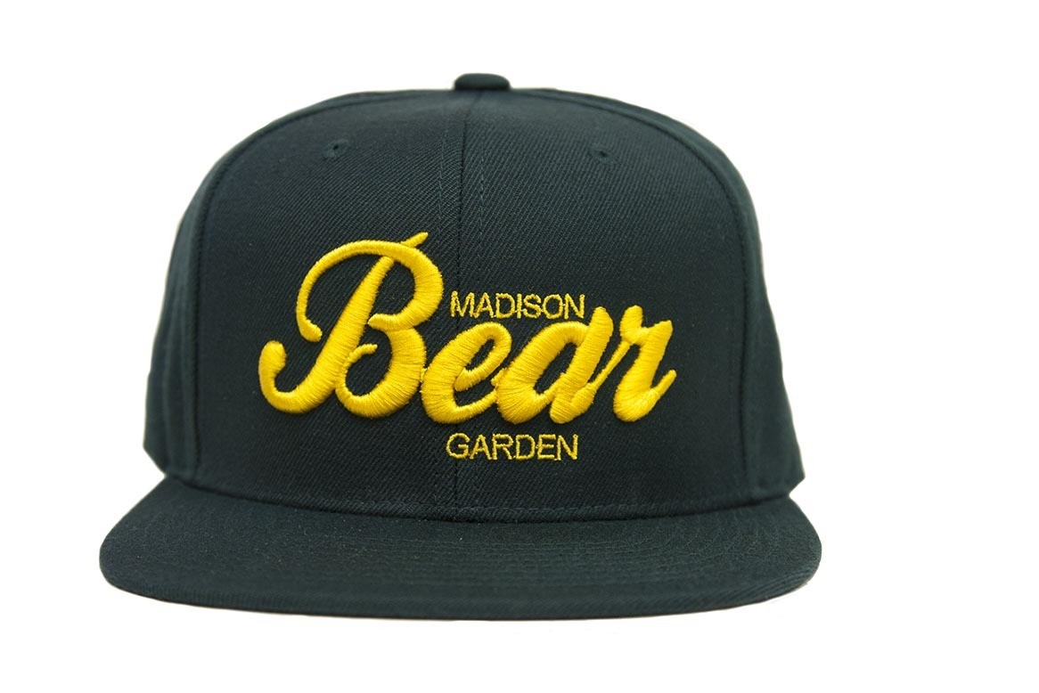 Green & Yellow Embroidered Snapback Hat