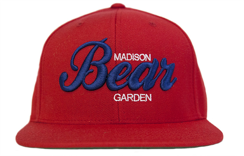 Red & Blue Embroidered Snapback Hat