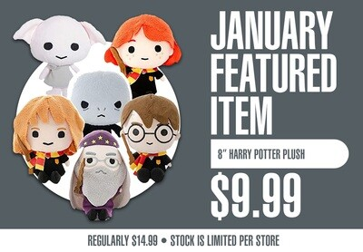 Harry Potter 8 inch Plush Dolls - Plush Toys - New