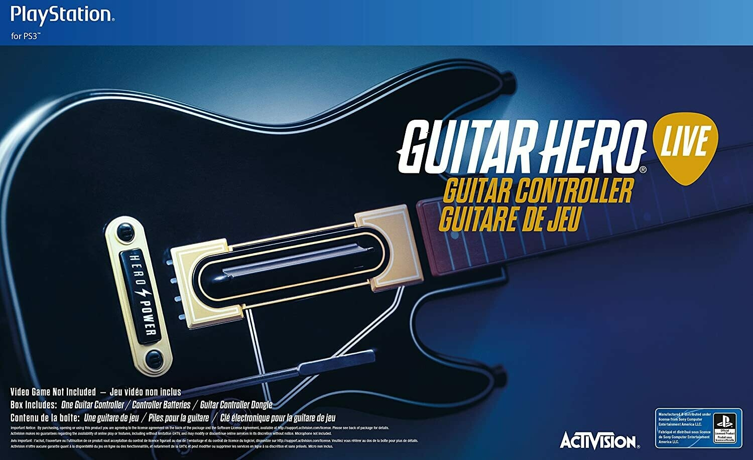 Wireless Guitar Hero Live Guitar - PS3