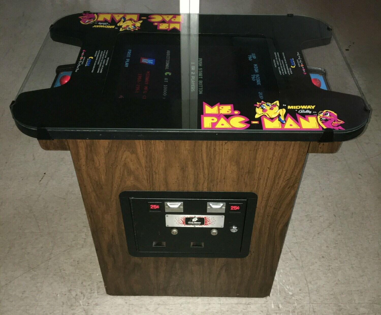 Ms. Pac-Man Cocktail Arcade Machine