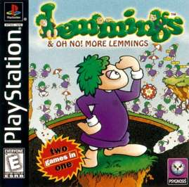 Lemmings and Oh No! More Lemmings - PlayStation - Used