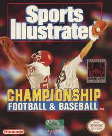Sports Illustrated Championship Football & Baseball - Game Boy - Used