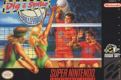 Dig & Spike Volleyball - SNES - Used