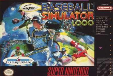 Super Baseball Simulator 1000 - SNES - Used
