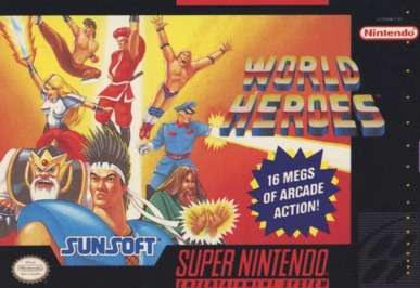 World Heroes - SNES - Used