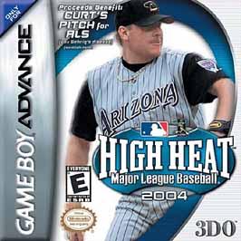 High Heat Major League Baseball 2004 - GBA - Used