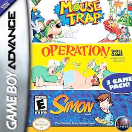 Mouse Trap / Operation / Simon - GBA - Used