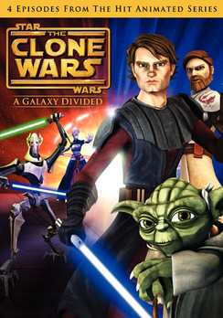 Star Wars The Clone Wars: A Galaxy Divided - Widescreen - DVD - Used