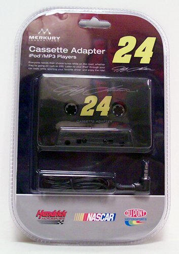 Nascar Cassette Tape Adapter 24 Jeff Gordon - Music Accessory - New