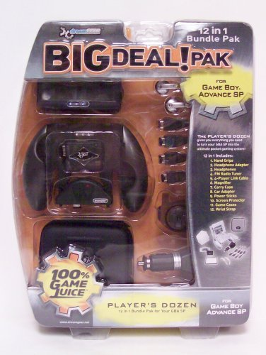 12 in 1 Big Deal Pak (black) for GBA SP - Game Accessory - New