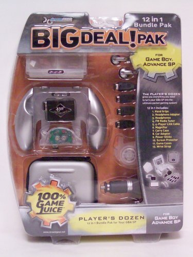 12 in 1 Big Deal Pak (silver) for GBA SP - Game Accessory - New