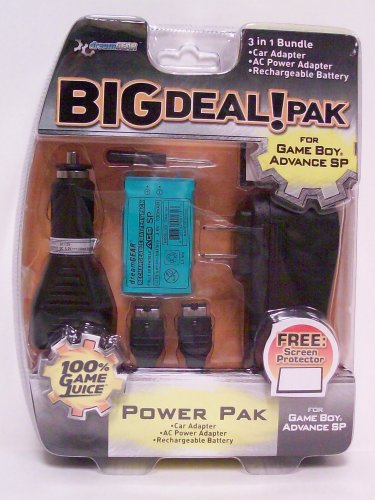 3 in 1 Big Deal Pack for GBA SP - Game Accessory - New