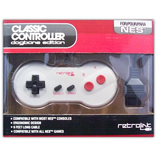 Classic Controller (dogbone edition) for NES - Game Accessory - New
