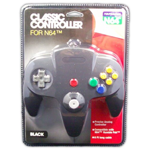 Classic Controller for N64 (black) - Game Accessory - New