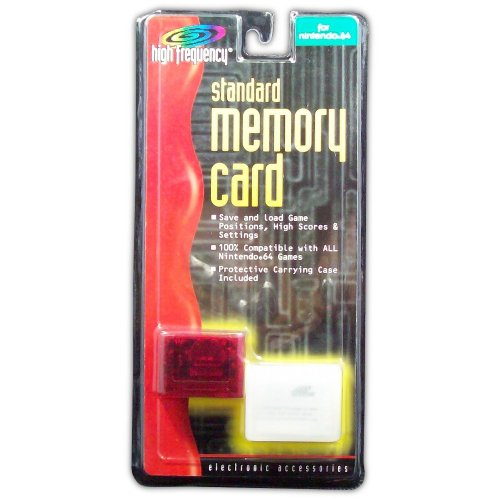 Memory Card for N64 (red) - Game Accessory - New
