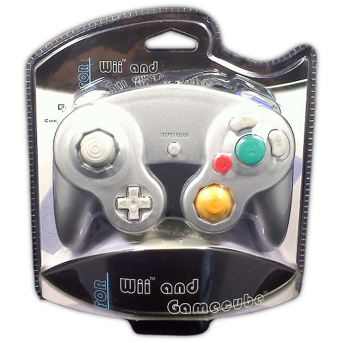Classic Controller for GameCube and Wii (platinum) - Game Accessory - New