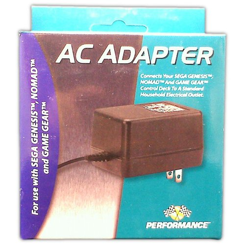 AC adapter for Genesis Nomad and Game Gear - Game Accessory - New