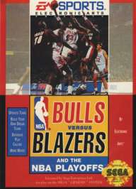 Bulls vs. Blazers and the NBA Playoffs - Sega Genesis - Used