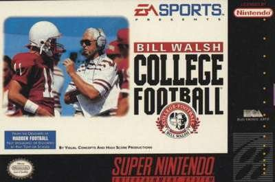 Bill Walsh College Football - SNES - Used