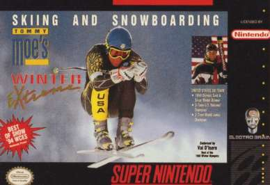 Sking & Snowboarding: Tommy Moe's Winter Extreme - SNES - Used